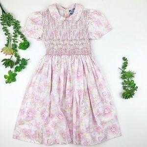 Other - Vintage floral Smocked Dress Floral